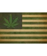 Marijuana Leaf USA Weed Flag Poster FREE SHIPPING - $15.33