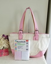 COACH SOHO CREAM WITH ROSE PINK TRIM Diaper Bag 1403 BAG IS IN GOOD PRE-... - $50.00