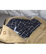 L.L. Bean Mens Khaki Pants Flannel Lining Tan 38 X 34  - $29.99