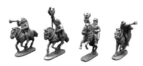 Xyston 15mm: Scythian Musicians and Standards Mounted