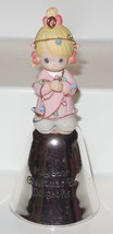 Precious Moments Mini Plastic Figurine Bell MAY YOUR CHRISTMAS BE DELIGH... - $14.03