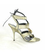 8 - Donna Karan Gold Strappy Sexy $775 Stiletto Heel Shoes w/ Box 0503HU - $225.00