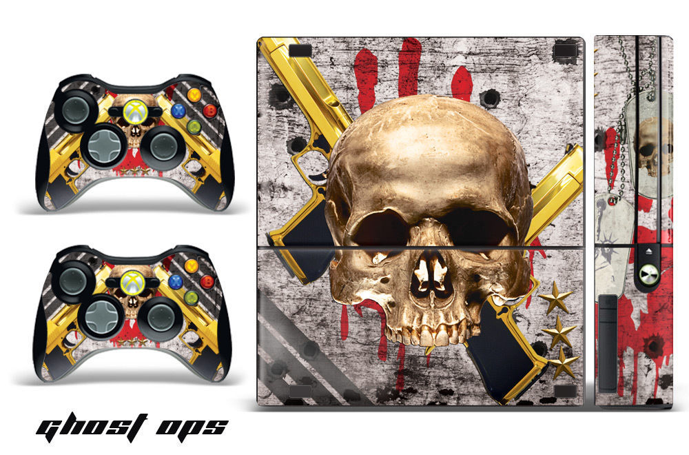 Skin Decal Wrap for Xbox 360 E Gaming Console & Controller Sticker Design GST OP