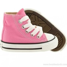 Converse All Star Chuck HI 7J234 Canvas Pink Kids Baby Toddler Shoes - £23.23 GBP
