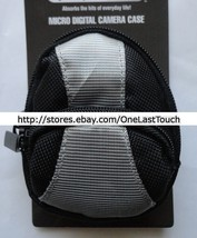 EXTREME GEAR Case for MICRO DIGITAL CAMERAS Black+Grey Canvas BELT STRAP... - $6.91