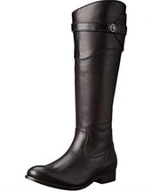 Frye Molly Button Tall Womens Leather Riding Boots SIze 6.5 Black - $137.99