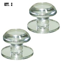 Clear Acrylic Stick-On Beveled Face Mirror Round Knob - Pack of 2 - $28.95