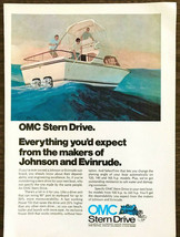 1973 OMC Stern Drive PRINT AD From the Makers of Johnson and Evinrude - $11.69