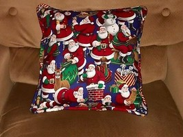 CHRISTMAS PILLOW SANTA AND SNOWMEN HANDMADE ~ NEW! - $35.64