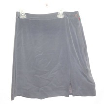 Jones New York 100% Silk Knee Length Straight Zipper Skirt Sz 10 Gray Ca... - $12.82