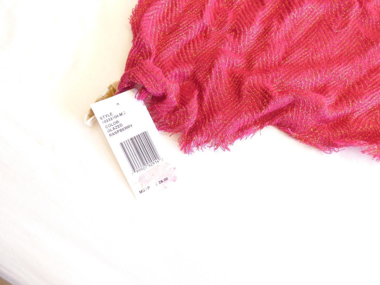 $28.00 Collection XIIX Metallic Textured Scarf, Glazed Raspberry