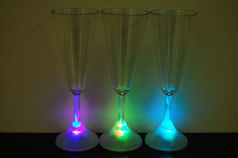 6 Pack 8 Mode Color Changing LED Champagne Glass - $24.95