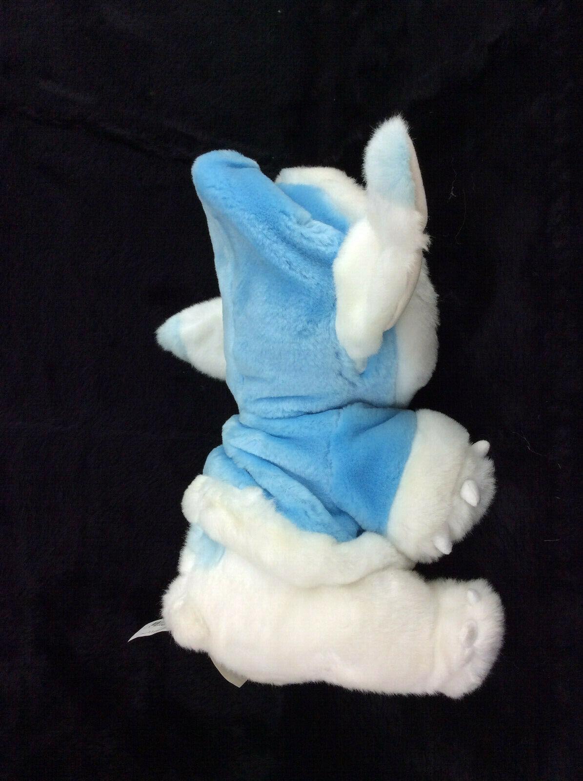 "Disney SNOWBALL STITCH blue/white 12"" plush w/winter hoodie coat Lilo & Stitch"