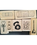 NEW MOUNTED WOOD RUBBER SMALL ITEM STAMPS YOUR CHOICE RETIRED MUST SEE! - $1.14+