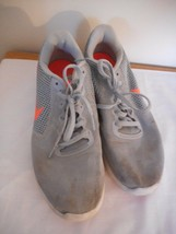 Nike Size 9 Womens Grey Orange Athletic Shoes Sneakers - $22.76