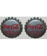 Soda pop bottle caps COCA COLA Tullahoma Tennessee Lot of 2 unused new o... - $5.99