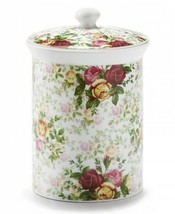 ROYAL ALBERT OLD COUNTRY ROSES PORCELAIN CHINTZ COOKIE BISCUIT JAR CANIS... - $98.99