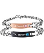 To Infinity And Beyond Stainless Steel Forever Matching Bracelets (2pc) - $51.26