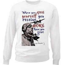 Antoine De SAINT-EXUPERY Receive Quote - New White Cotton Sweatshirt - $33.08