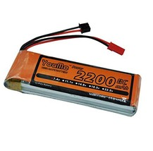 Youme Receiver&Transmitter LiPo Battery Pack 2S 2200mah 7.4V 8C with JST... - $21.19