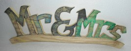 India Wooden Letters Mr & Mrs nicely crafted home décor Size. 7.5x23.5x1... - $30.60