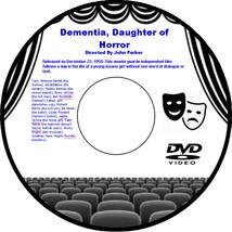 Dementia, Daughter of Horror 1955 DVD Movie  Adrienne Barrett Ed McMahon... - $3.99