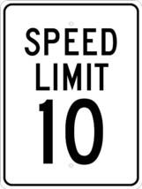 """NMC TM18J Traffic Sign, """"SPEED LIMIT 10"""", 18"""" Width x 24"""" Height, Alumin... - $47.53"""