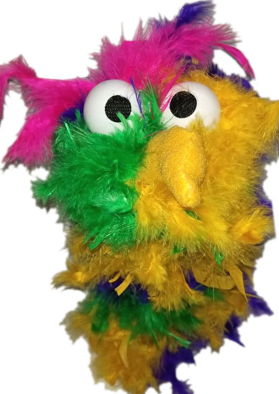 "C23 * Deluxe Custom ""Rainbow / Dark Pink Top Bird""  Sock Puppet * Custom Made"