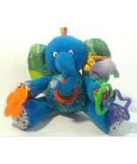 Eric Carle Plush Blue Elephant Busy Baby Crib Toy Rattle Squeaky Purple ... - $18.00