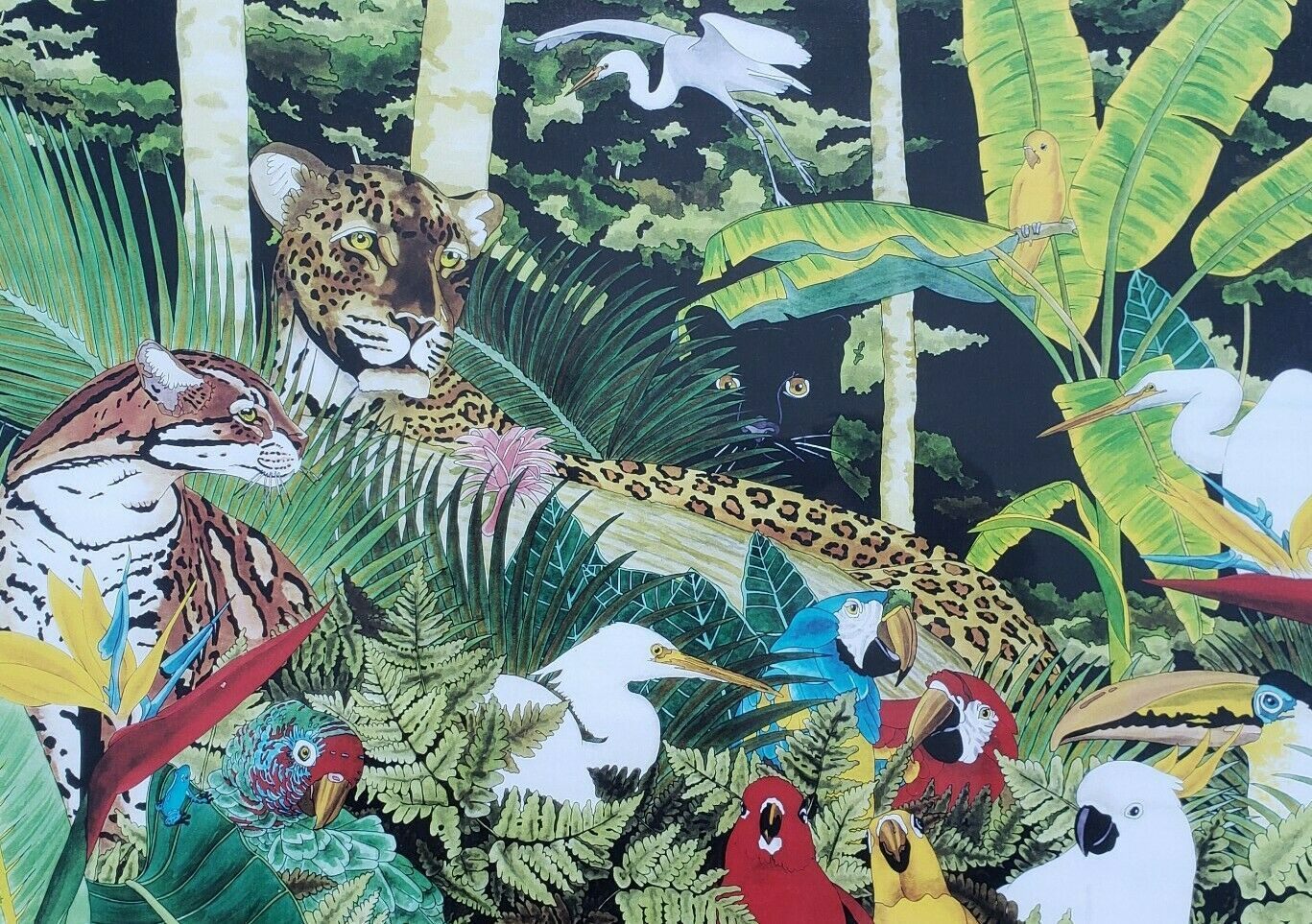 Primary image for Jorge Fernandini - Cheetah Jungle - Watercolor Art South Beach, Miami Florida
