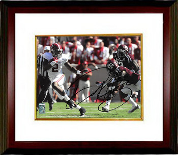 Primary image for Derrick Henry signed Alabama Crimson Tide 11X14 Photo Custom Framed #2 (hand up