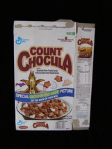 Count Chocula Glow In The Dark Picture Vintage Cereal Box Flat Empty Box... - $40.00