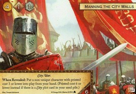 Game of Thrones Card Game LCG 2nd Ed - Manning the City Walls Alt Art Promo - $5.95