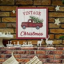 "18"" Vintage Christmas Truck Wall Hanging Sign Xmas Home Decor TkLinkin17 - $56.43"