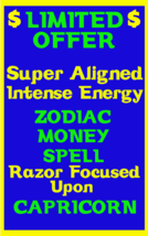 Money Spell Highly Charged Spell For Capricorn Millionaire Magic for Luck  Money - $47.00