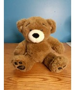 "Vintage 1997 Build A Bear ""Bearemy"" Plush Bear Faux Leather Pads 16""  - $11.88"