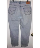 LEVI'S 550 Jeans Sz 36 Long Men's Relaxed Fit High Rise Distressed Denim... - $29.69
