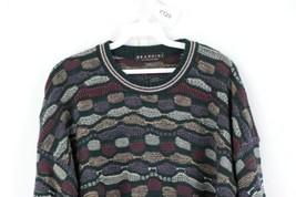 Vtg 90s Coogi Style Mens XL Textured Striped Multi-Color Biggie Smalls S... - $39.55