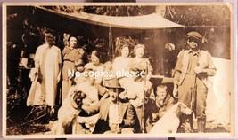 Real Photo Circa 1920-30 Family & Guns, Fishing Rods, Hunting Dogs Ready... - $6.99