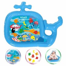 JOYXEON Inflatable Tummy TimeWater Mat Whale Shape Infants and Toddlers Play Ma
