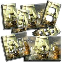 PIRATE SAIL SHIP BATTLE BATTLESHIP LIGHT SWITCH WALL PLATE OUTLET ROOM A... - $9.89+
