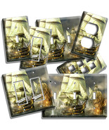 PIRATE SAIL SHIP BATTLE BATTLESHIP LIGHT SWITCH WALL PLATE OUTLET ROOM A... - $10.99+
