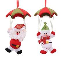 Home Ceiling Christmas Decorations 26x14cm Parachute Santa Claus Snowman... - $6.98