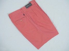 NEW! Polo Ralph Lauren Tyler Fit Pleated Shorts!  Nantucket Red  34 36 38 40 42 - $49.99