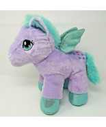 Dan Dee Violet Purple Sparkly Winged Pony Horse Plush Pegasus Stars EUC - $14.92