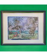Vintage Signed  Lionel Barrymore Color Foil Etch Print - Old Nantucket, ... - $4.95