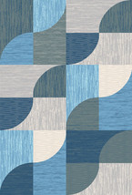 PREMIUM 3D Hand Carved Modern 5x8 5x7 Rug Contemporary 5656 Grey Gray Blue - $119.00