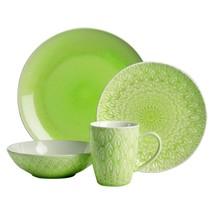 Peacock Green 16 Piece Dinnerware Set by Euro Ceramica - $93.05