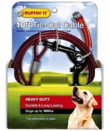 RUFFIN' IT 10' Dog Tie-Out Cable up to 100lbs. - $14.84