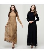 Islamic Muslim lace Dresses  Long maxi Dresses Malaysia Abayas in Dubai ... - $36.72